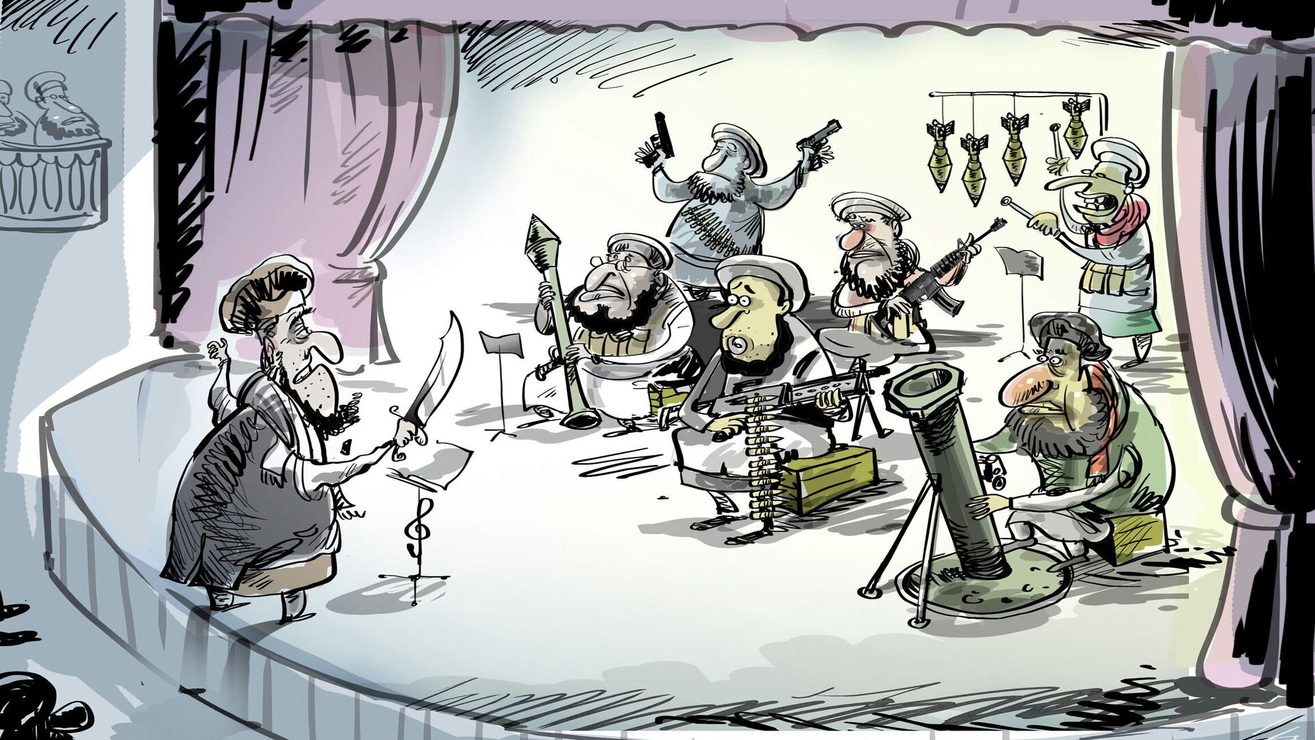Talebani: il gruppo (musicale) si scioglie - Sputnik Italia, 1920, 28.08.2021