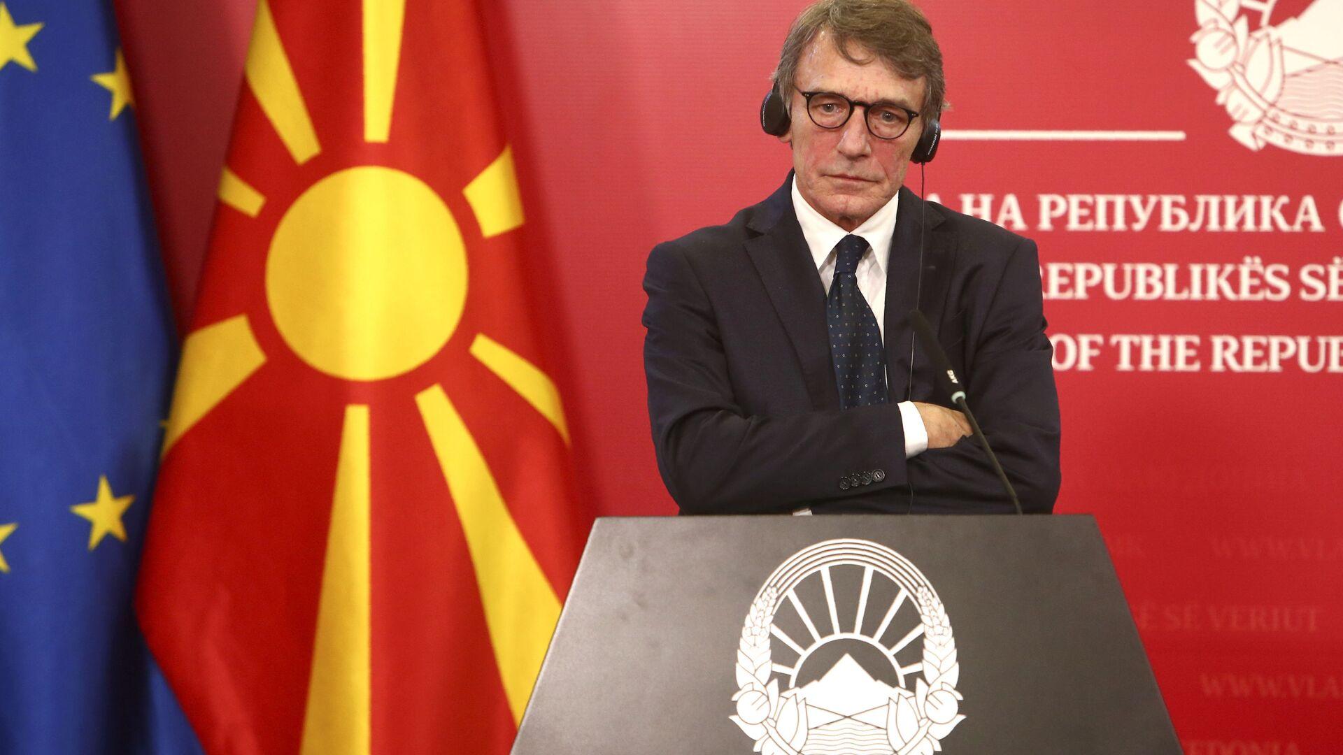 Il presidente del Parlamento Europeo David Sassoli - Sputnik Italia, 1920, 01.09.2021