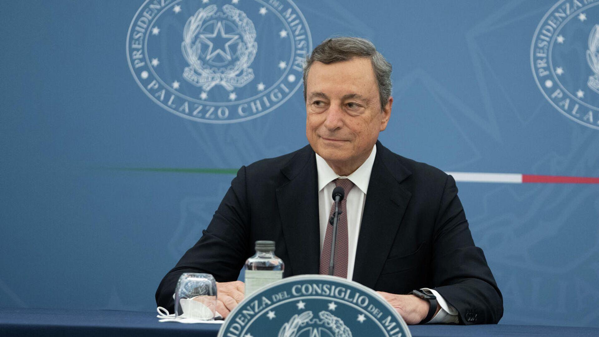 Conferenza stampa del Presidente Draghi  - Sputnik Italia, 1920, 15.09.2021