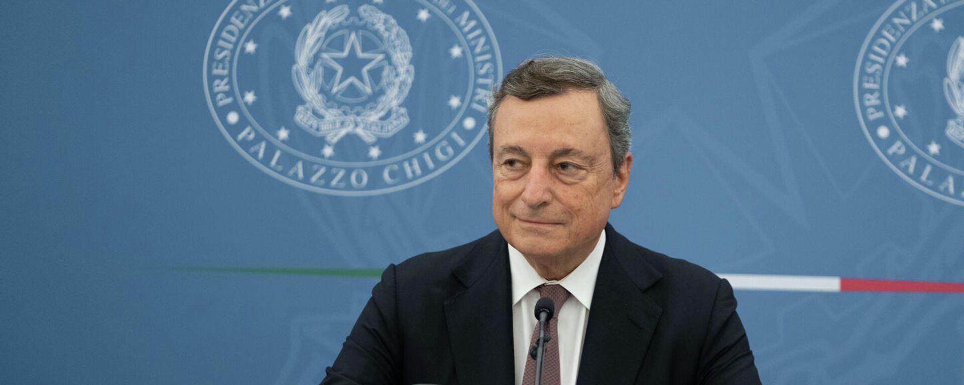 Conferenza stampa del Presidente Draghi  - Sputnik Italia, 1920, 06.09.2021