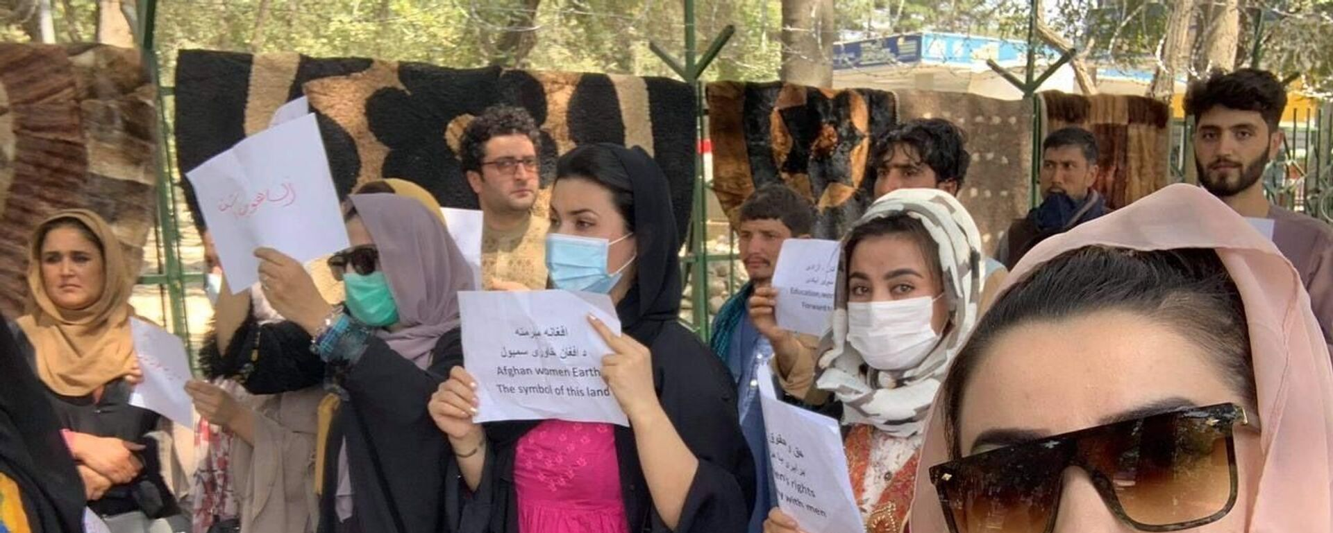 La manifestazione di donne a Kabul, il 4 settembre - Sputnik Italia, 1920, 04.09.2021