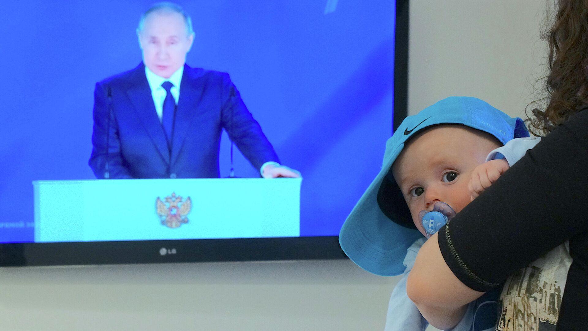 Neonato e Putin - Sputnik Italia, 1920, 11.09.2021