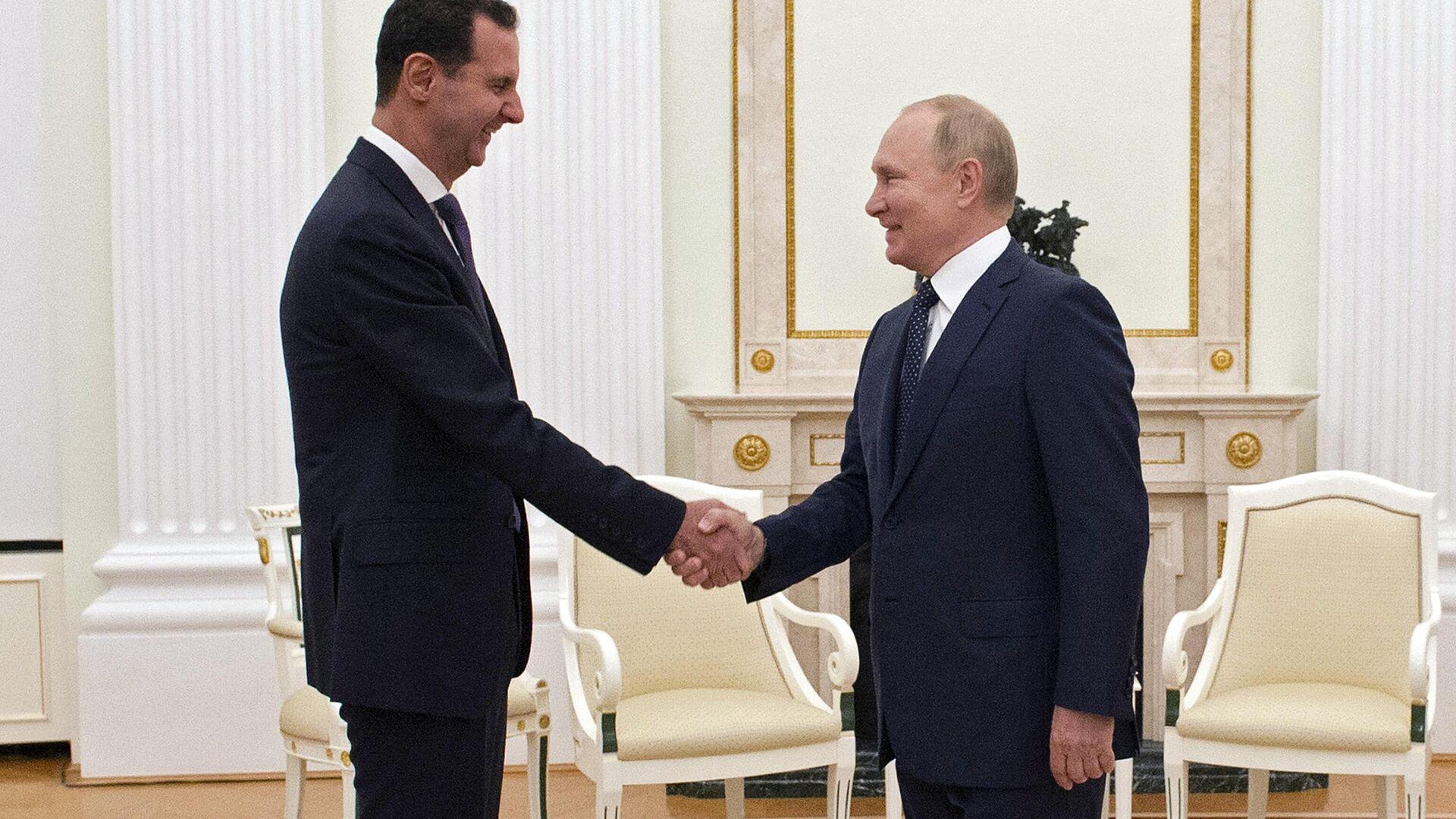 L'incontro tra Vladimir Putin e Bashar Assad - Sputnik Italia, 1920, 14.09.2021