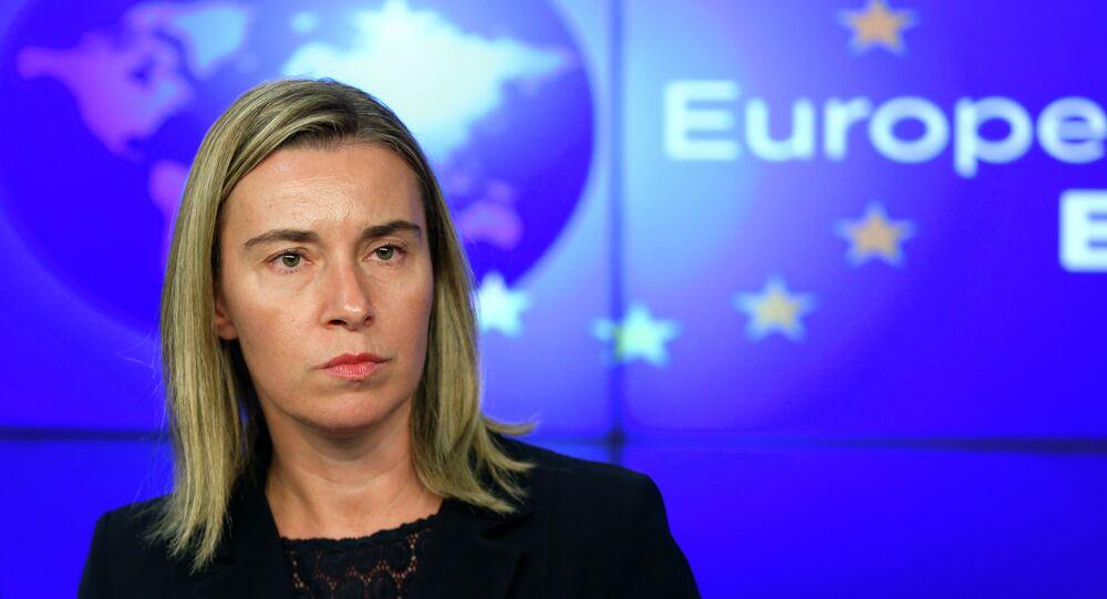 Il capo di politica estera europea Federica Mogherini