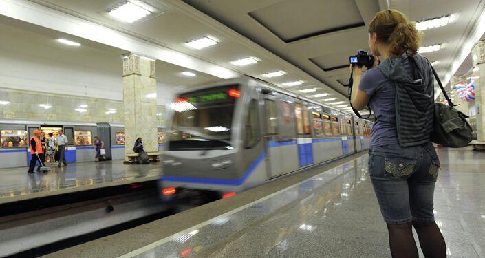 Uno scorcio della metropolitana di Mosca, stazione Partizanskaya