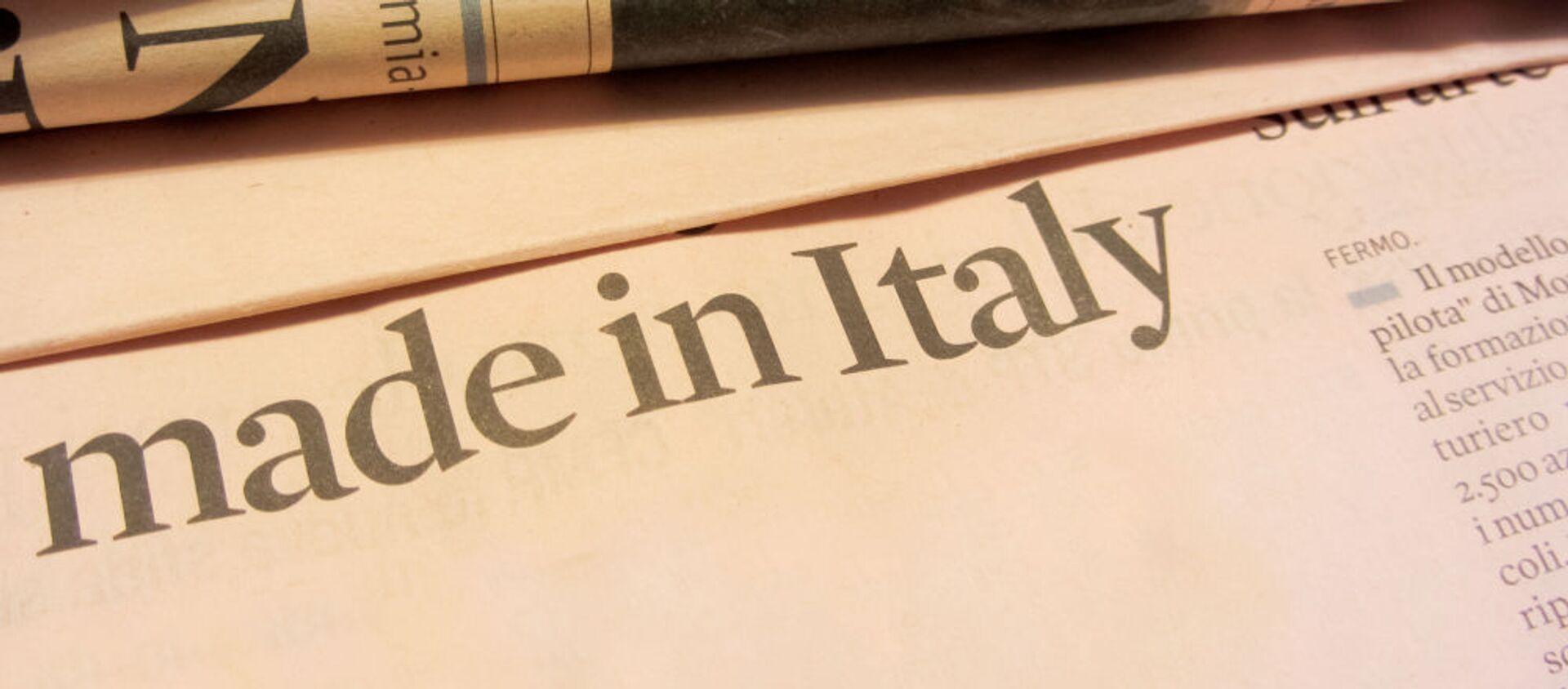 Made in Italy giornali - Sputnik Italia, 1920, 31.12.2020