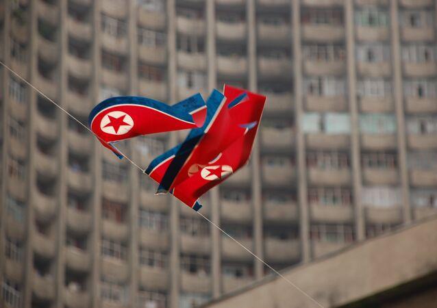 La bandiera di Corea del Nord