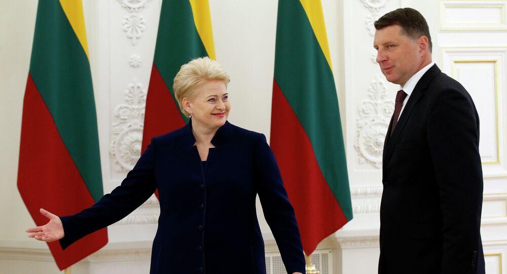 Dalia Grybauskaite e Raimonds Vejonis