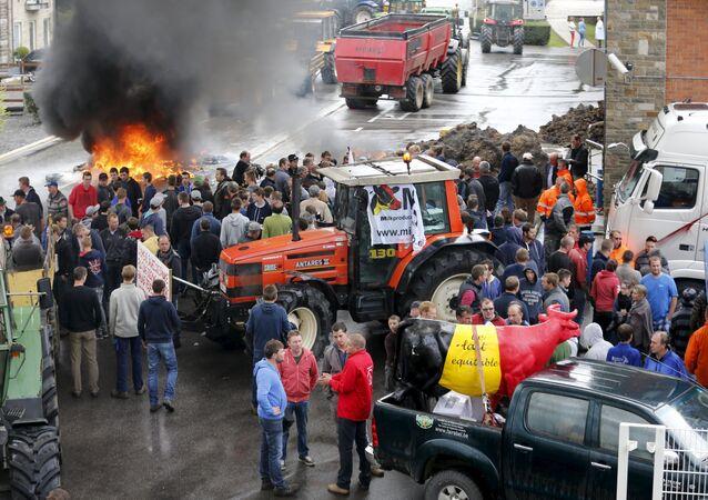 Proteste agricoltori in Belgio