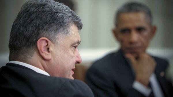 Poroshenko e Obama - Sputnik Italia