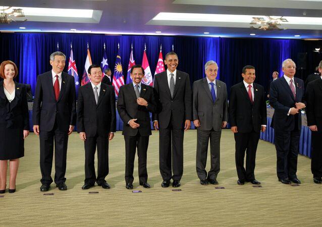 """Presidente Barack Obama incontra leader del """"Partenariato Trans-Pacifico"""" (TTP)"""
