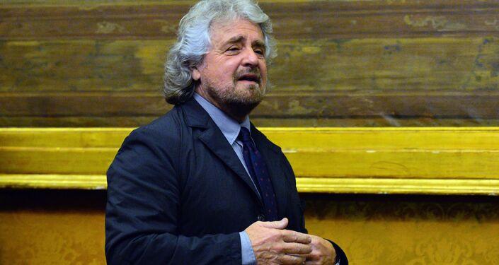 Il leader del Movemento 5 stelle Beppe Grillo.
