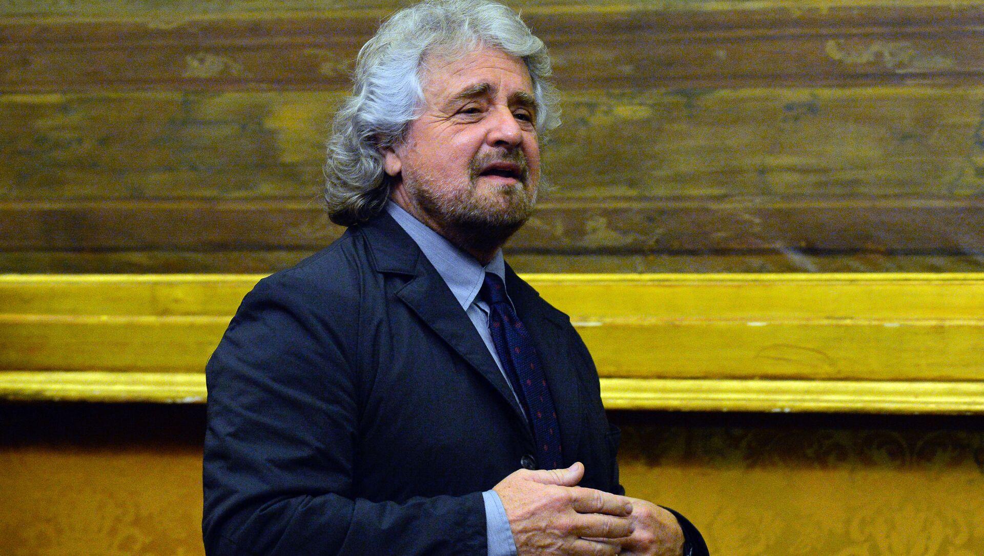 Il leader del Movemento 5 stelle Beppe Grillo - Sputnik Italia, 1920, 13.03.2021