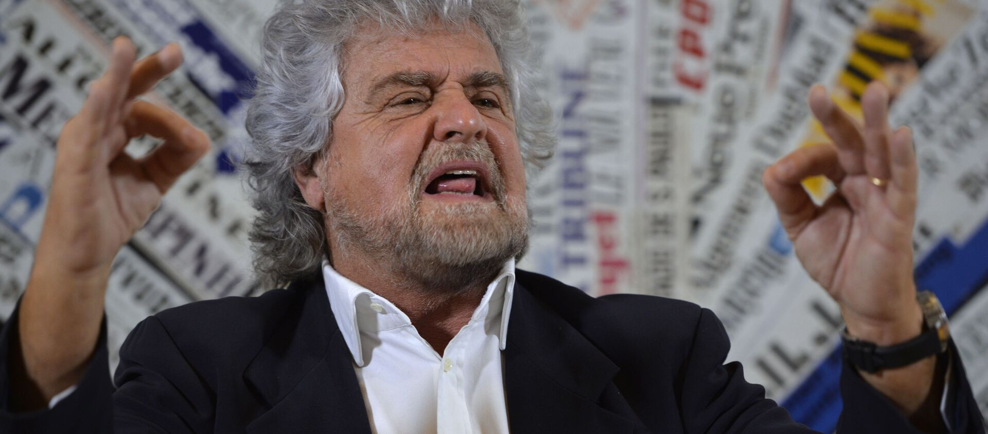 Il leader del Movemento 5 stelle Beppe Grillo - Sputnik Italia, 1920, 10.02.2021