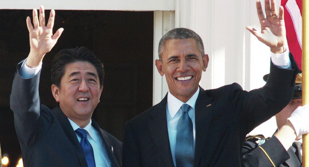 Premier del Giappone Shinzo Abe e presidente USA Barack Obama
