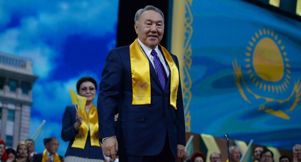 Il Presidente  di Kazakistan Nursultan Nazarbayev
