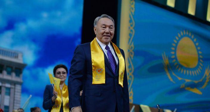 Il Presidente del Kazakhstan, Nursultan Nazarbayev