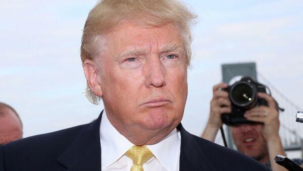 Donald Trump attends the Hank's Yanks 1st Annual Golf Classic at Trump Golf Links on Monday, July 6, 2015, in New York - Sputnik Italia