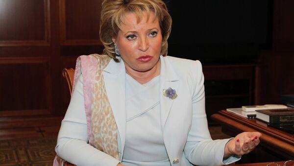 Presidente del Consiglio della Federazione Valentina Matvienko - Sputnik Italia