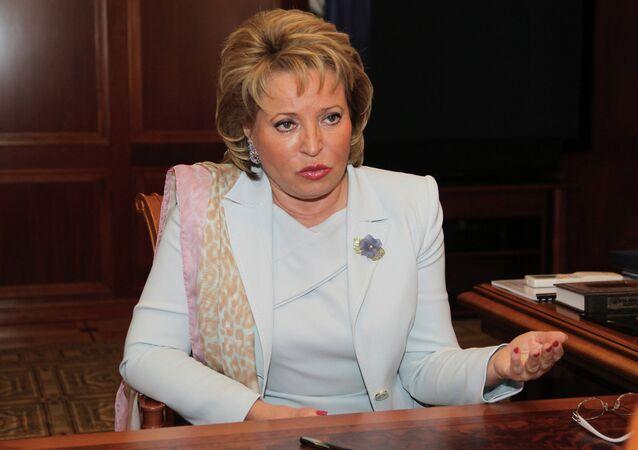 Presidente del Consiglio della Federazione Valentina Matvienko