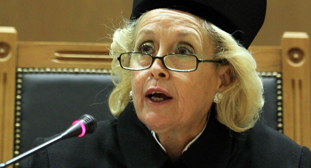 Presidente della Corte suprema della Grecia Vassiliki Thanou