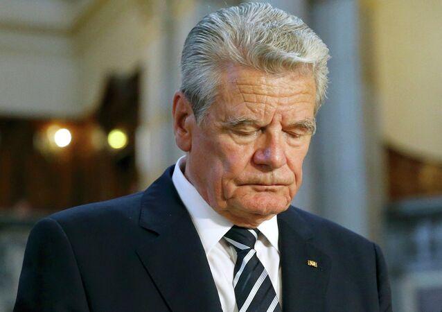 Il presidente tedesco Joachim Gauck
