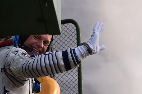 L'astronauta dell'ESA Andreas Mogensen prima del lancio della Soyuz TMA-18M dal cosmodromo di Bajkonur. - Sputnik Italia