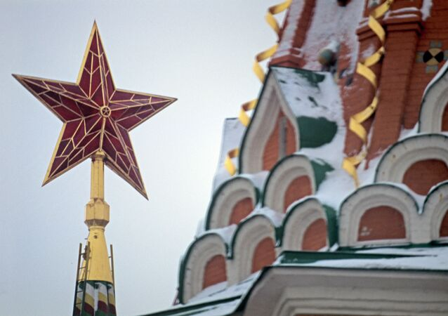 The star on the Spasskaya Tower of the Moscow Kremlin
