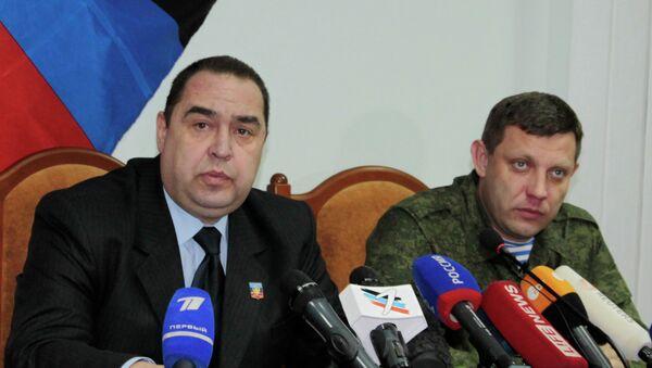 Igor Plotnitsky ed Alexander Zakharchenko, leader delle Repubbliche Popolari di Donetsk (DNR) e Lugansk (LNR) - Sputnik Italia