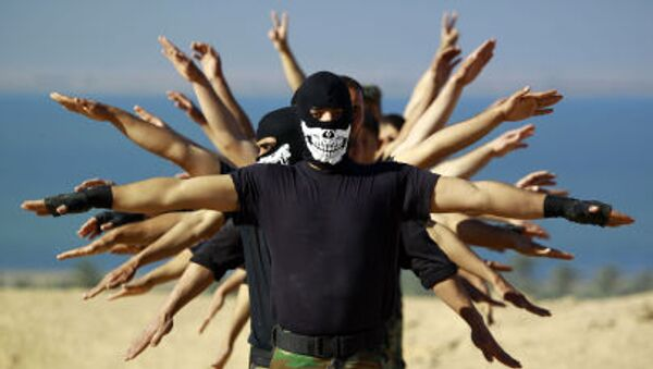 Combattenti iracheni prendono parte ad un'esercitazione. - Sputnik Italia