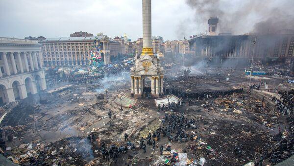 Piazza Maidan a Kiev, Ucraina, 2014. - Sputnik Italia