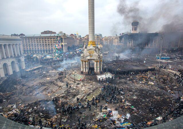 Disordini in piazza Maidan a Kiev (foto d'archivio)