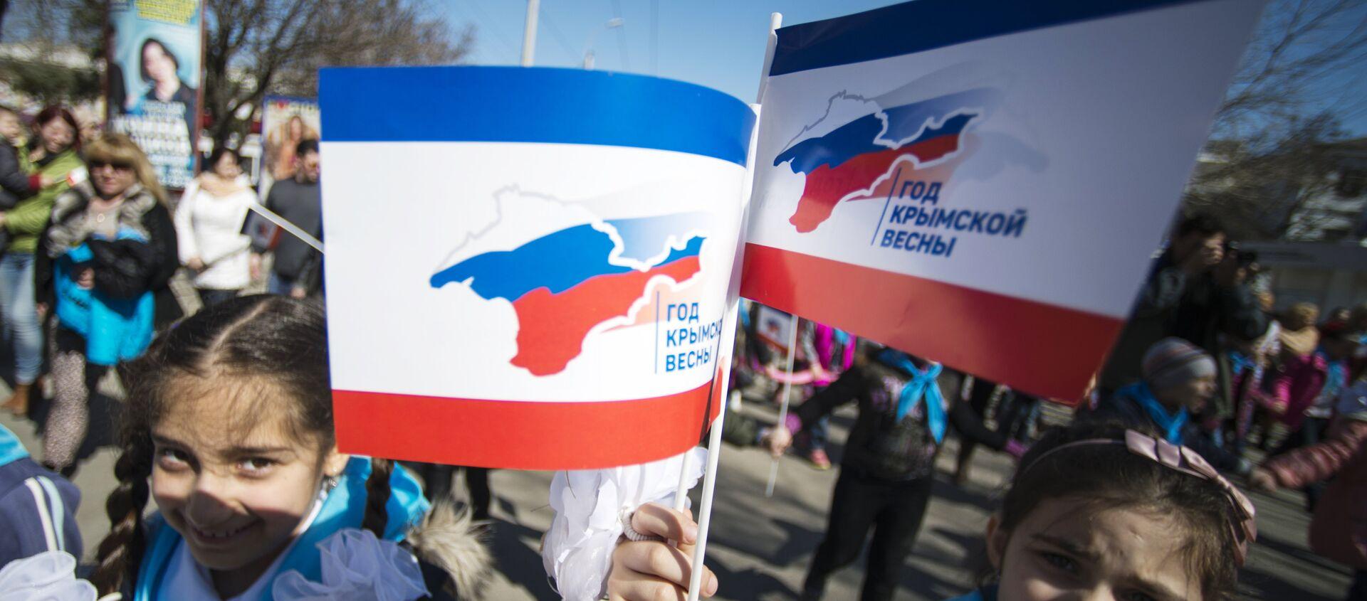Crimea, i festeggiamenti per il primo anniversario del ritorno alla Russia - Sputnik Italia, 1920, 18.03.2021