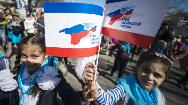 Crimea, i festeggiamenti per il primo anniversario del ritorno alla Russia - Sputnik Italia