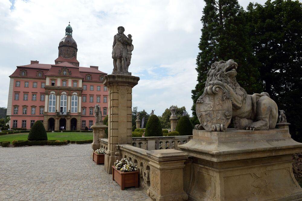 Il Castello di Książ nella città di Wałbrzych in Polonia.