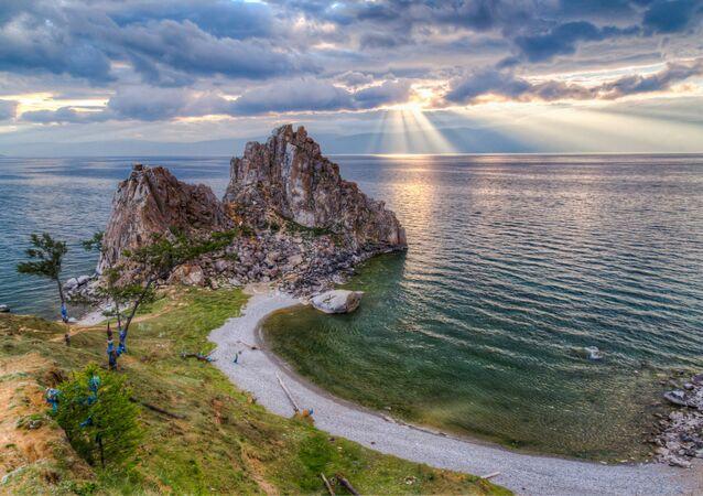 La veduta sul lago Bajkal.