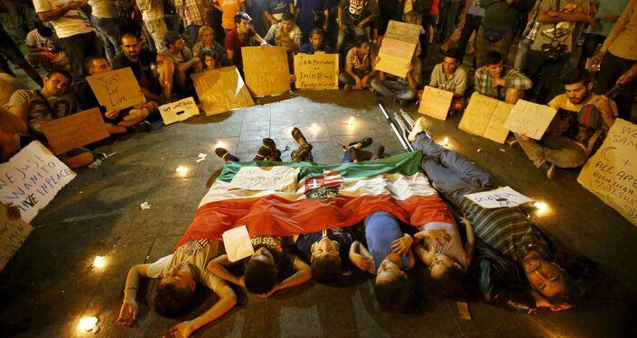 Le proteste dei migranti alla stazione centrale Keleti a Budapest