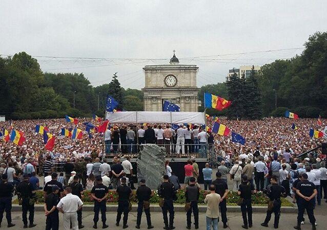 Le proteste in Moldavia.