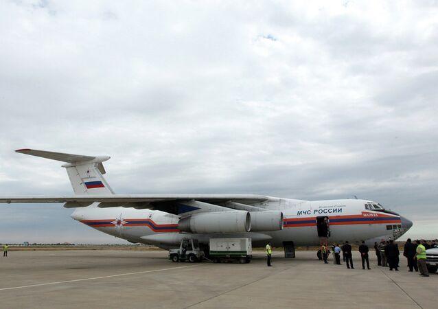 L'aereo con gli aiuti umanitari russo arriva in Siria