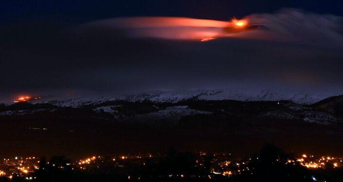 L`eruzione del vulcano
