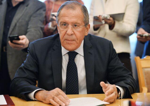 Il ministro degli Esteri della Russia Sergey Lavrov