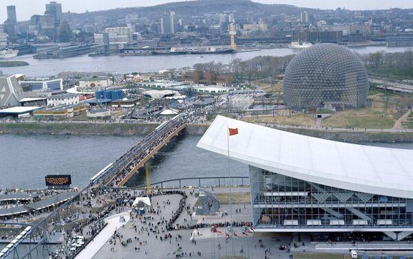 Veduta dall'alto del padiglione dell'URSS all'Esposizione Universale del 1967 a Montreal. - Sputnik Italia