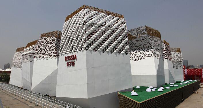 Il padiglione russo all' Esposizione Universale di Shangai del 2010.