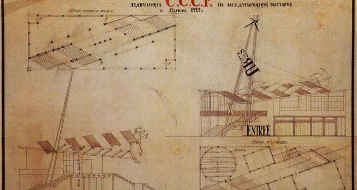 Il progetto del padiglione dell'URSS per l'EXPO di Parigi del 1925