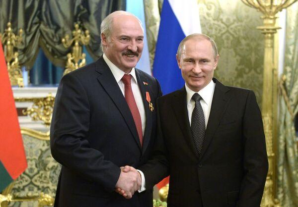 L'incontro tra i presidenti della Russia e Bielorussia Vladimir Putin e Alexander Lukashenko. - Sputnik Italia