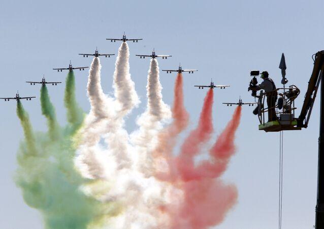 La pattuglia acrobatica Frecce Tricolori.