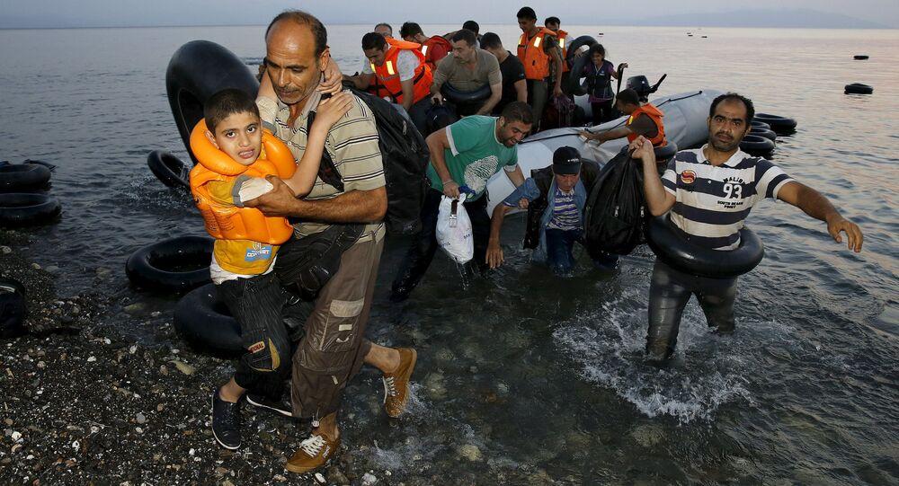 Profughi nel Mar Egeo (foto d'archivio)