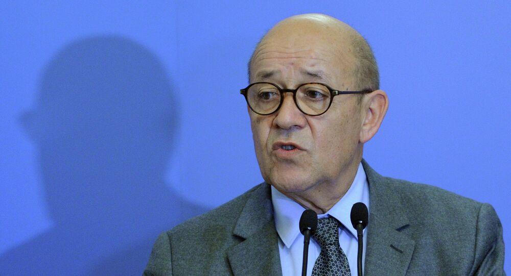 Il ministro della Difesa francese Jean-Yves Le Drian