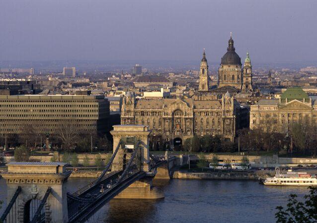 Panorama di Budapest, Ungheria.