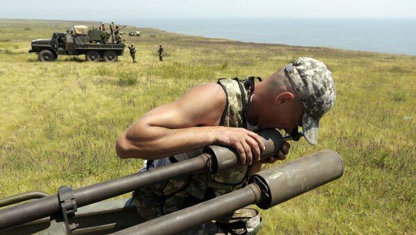 Artiglieria ucraina nei pressi di Mariupol - Sputnik Italia
